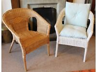 Two Lovely Wicker Chairs - Scandi Chic
