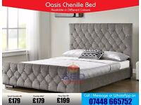 **QUICK FAST DELIVERY** Oasis Crushed Velvet Bed from £179 Available in Different Sizes and Colours