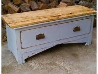 Beautiful Large Vintage Rustic Shabby Chic Linen Draw ( for the foot of the bed )