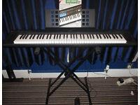 Yamaha NP-30 Portable Grand Digital Piano Keyboard PSU, Sustain Pedal, Stand, Book