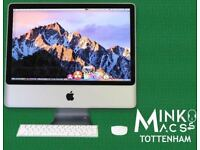 APPLE iMAC DESKTOP COMPUTER 20' 2.4Ghz 4GB RAM 320GB HDD MINKOS MACS TOTTENHAM WARRANTY IMMACULATE