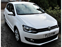 VW POLO 5 DOOR DSG AUTOMATIC 2013 , one owner 21688 miles , full VW history MOT march 2019