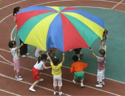 2M Mehrfarbige Schwungtuch Regenbogentuch für Kinder Fallschirm Parachutes