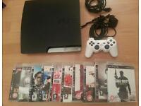 PS3 slim console complete with 12 games inc minecraft- bargain £89