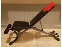 Bowflex SelectTech 3.1 Series free weights workout bench + removable leg brace excellent condition