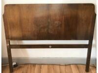 Vintage Mid Century Double Bed Frame