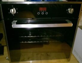 Single electric oven touch controls