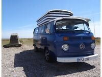 VW T2 Bay Camper 1978 lovely condition; newly refitted and with a special history