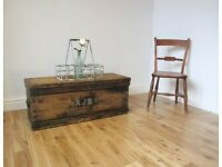 Vintage Pine Seaman's Chest / Coffee Table