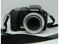 Camera Digital - Olympus SP-55OUZ black with SD Card + strap. Video and 18x zoom fantastic condition