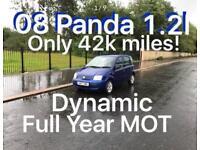 42k miles! *£1475 2008 Fiat Panda 1.2l* like fiesta punto yaris micra corsa c1 aygo 107 getz polo
