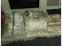 King size bed linen throw shams fancy pillows