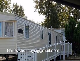 Blackpool Marton mere (Haven) 2 and 3 beds and Edwards caravan park Towyn. 2 bed now available.