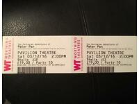 2 Peter Pan panto tickets for 3rd of December worthing Pavillon