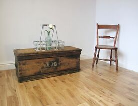 Vintage Pine Seaman's Chest / Coffee Table