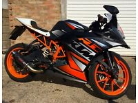 KTM RC 125 ABS (64 REG) Great Sound And Performance Low Mileage Fuel F1r Exhaust