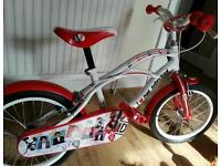 """Girls 16"""" 1D One Direction Bike - Excellent Condition."""