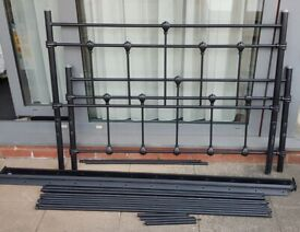 double-size metal bed frame. In good condition.