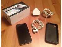 Black IPHONE 4 8Gb boxed with charger headphones faulty power switch but working