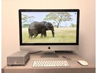 Apple iMac 27-inch | 3.4GHz Intel Core i7 | 1TB SSD Hard Disk | 16GB Ram | + 1TB G-Tech External HDD