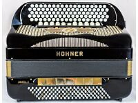 Hohner Goletta V - 5 Row Chromatic C-System - 5 Voice Double Cassotto - 120 Bass Accordion