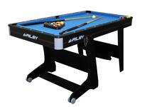 Riley 5 ft Folding Pool Table - Black