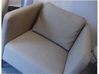Beige Ikea Armchairs x 2