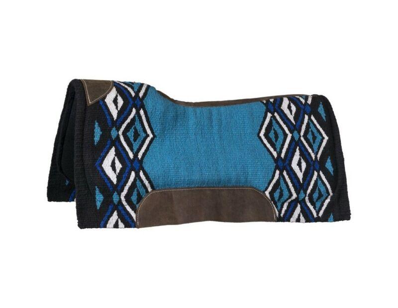 "Tough 1 Saddle Pad Lakota Contoured Wool Hand Woven 36""x34"" 31-9055"