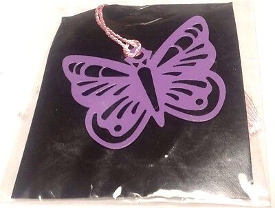 Bookmark Book Marker Enameled Metal Jeweled Pink Butterfly Insect New Silver ()