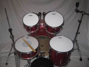 5 pce Pearl Vision VMX All Maple Drum Kit w/Hardware -As New- Coburg Moreland Area Preview