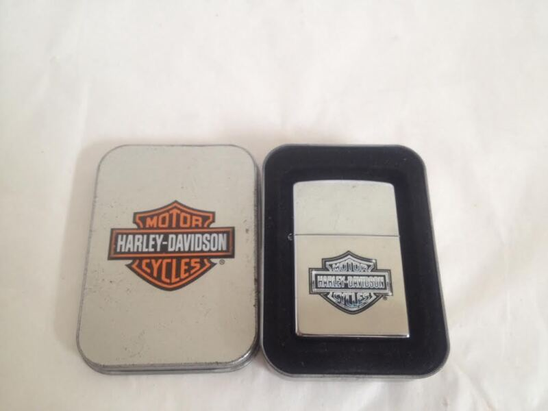 Vintage Zippo Lighter Harley Davidson Motorcycles With Original Metal Case USA