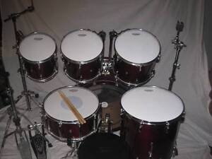 6 pce Pearl Session Series All Maple Drum Kit w/Hardware -As New- Coburg Moreland Area Preview