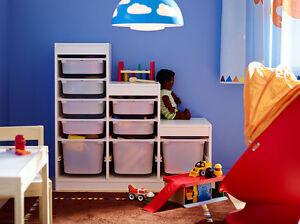 ikea rangement avec boxes jouet enfants tag re syst me cadre blanc ordre ebay. Black Bedroom Furniture Sets. Home Design Ideas
