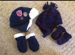 Baby winter hats and mitts