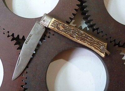 French vintage Hunting Pocket Knife PRADEL couteau de poche ancien PRADEL