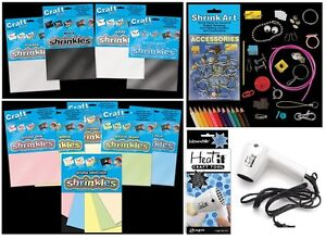SHRINKLES-SHRINKIE-SHRINK-PLASTIC-ART-CRAFT-COLOUR-EMBELLISHMENTS-JEWELLERY