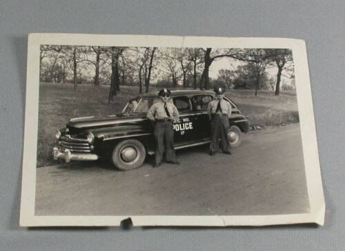 Vtg 1948 Original Kansas City Missouri Police Car Photo Photograph