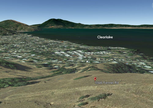 CLEARLAKE, CALIFORNIA - VACANT LOT WITH LAKE VIEWS!!!