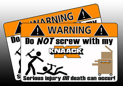 Knaack Tool Toolbox Warning Sticker Decal box Screw (Knaack Tool Boxes)