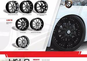 LUX ALLOYS 20 INCH  MAG WHEELS WITH TYRES LSS10 - MATT BLACK Cornubia Logan Area Preview