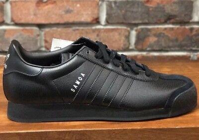 Adidas Originals Samoa Shoes Core Black Triple Harden Black Leather Men Size 10