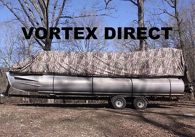 NEW CAMO VORTEX 23 - 24  FT ULTRA 5 YEAR CANVAS COVER FOR PONTOON/DECK BOAT