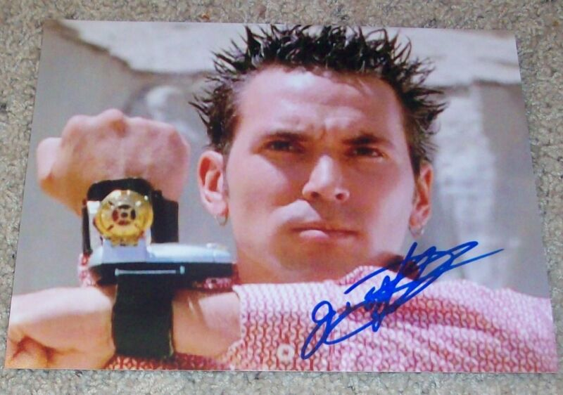 JASON DAVID FRANK SIGNED AUTOGRAPH POWER RANGERS 8x10 PHOTO B w/EXACT PROOF