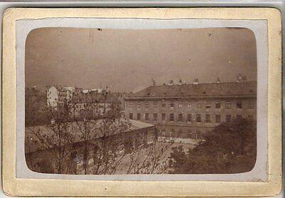 CDV photo Historische Ansicht einer Stadt in Österreich ? - 1890er