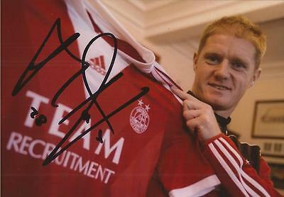 ABERDEEN: ALAN TATE SIGNED 6x4 PORTRAIT PHOTO+COA