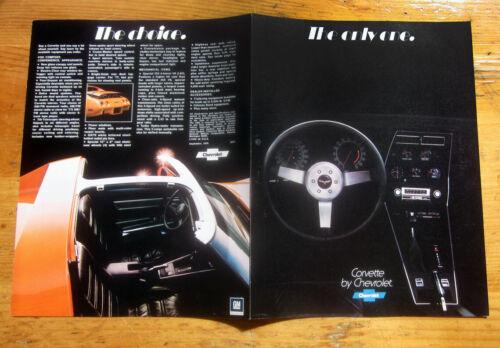 1977 Chevrolet CORVETTE  Foldout Brochure