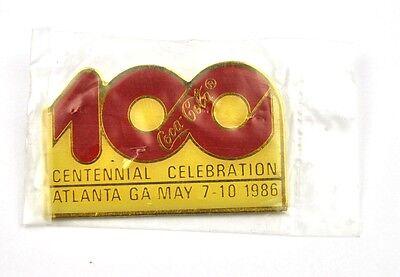 Coca-Cola Coke USA Lapel Pin OVP Anstecknadel - 100 Centennial Celebration 1986
