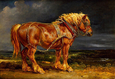 "Draft Horse by James Ward, ""The Elephant""  vintage art"
