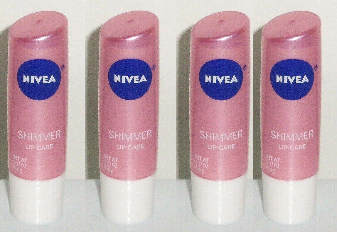 Nivea A Kiss of Shimmer Radiant Lip Care 5 Pack Lip Balm