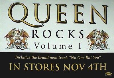 "QUEEN ""ROCKS VOL. I - IN STORES NOV. 4th"" U.S. PROMO POSTER - 2 Coats Of Arms"